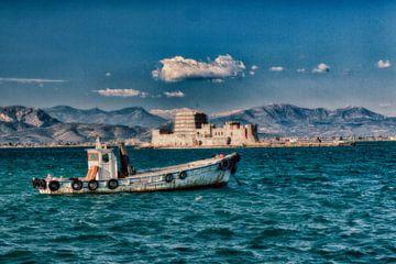Vissersboot in Nafplio von