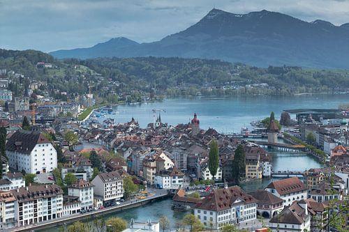 Luzern from above van