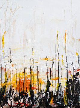 abstrakter Sonnenaufgang 2020 von David Berkhoff