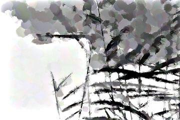Graanhalmen tegen bewolkte lucht sur Ready Or Not