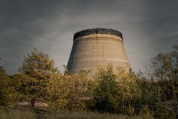 Onafgewerkte koeltoren van eenheid 5 van de kerncentrale van Tsjernobyl van Robert Ruidl