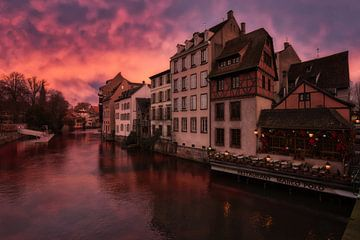 Schemerige kleuren in Straatsburg