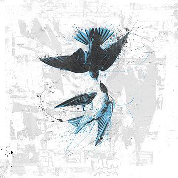 Spiraling birds van Teis Albers