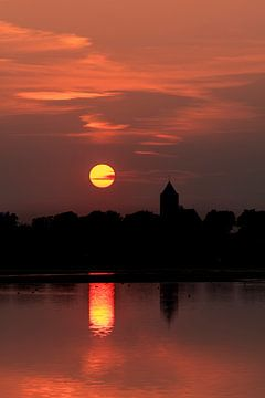 Zalk bij zonsondergang von Erik Veldkamp