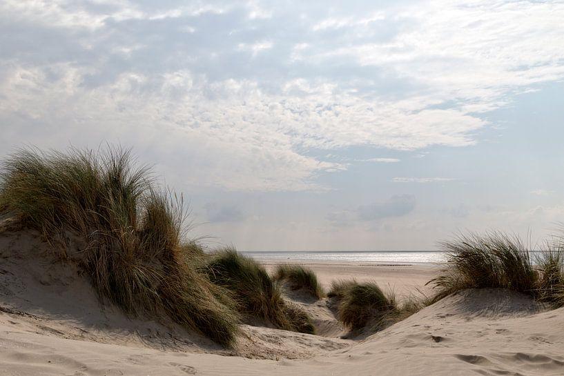 Duin, strand en zee II van Miranda van Hulst