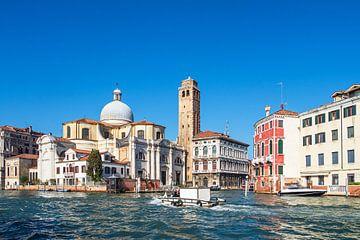 Historische Gebäude am Canal Grande in Venedig von Rico Ködder