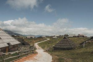 Velika Planina Dorf von