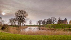 Het landschap van Slot Loevestein