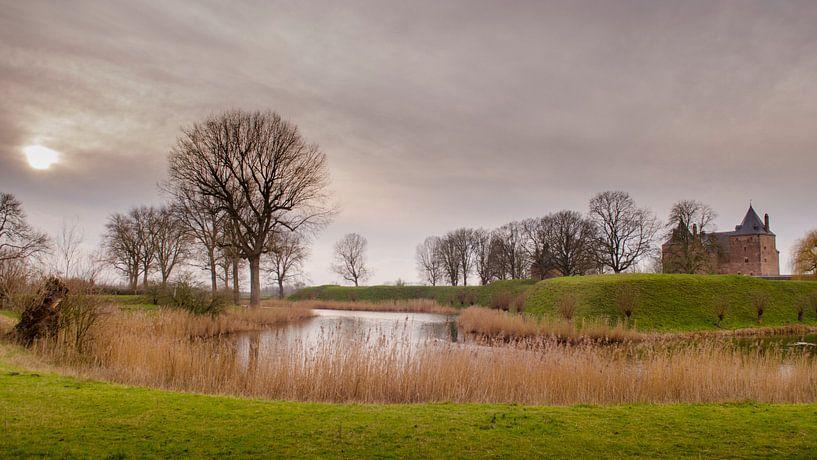 Het landschap van Slot Loevestein van Sean Vos