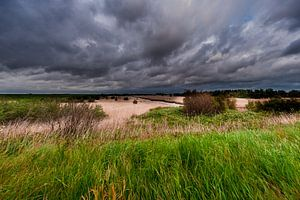 A Thunderstorm over a Landscape