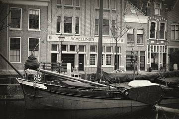 zeilboot in Delfshaven van Lukas van der Burg