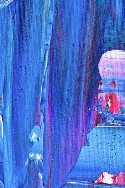 Macrofotografie blauw van City of Light van Angelique van 't Riet