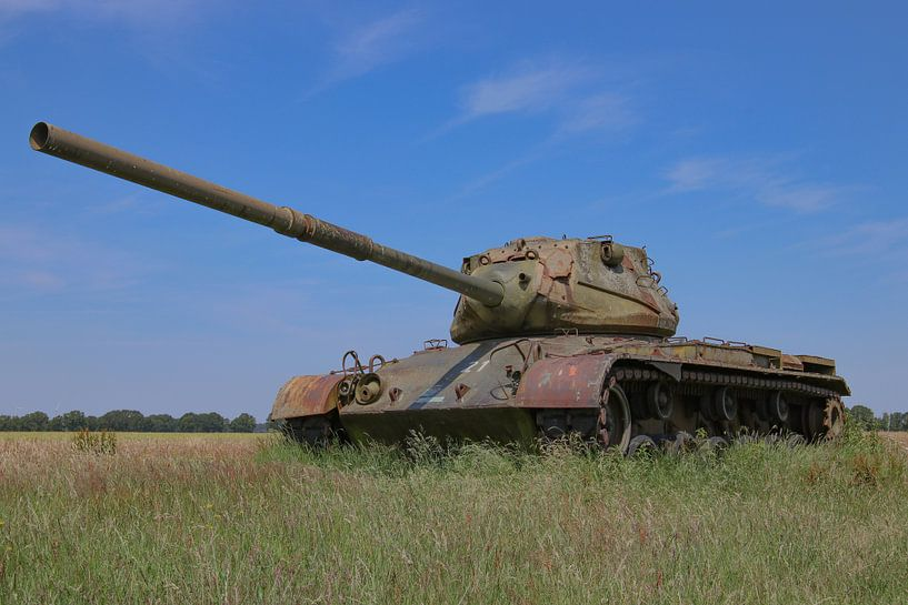 M47 Patton leger tank kleur 2 van Martin Albers Photography