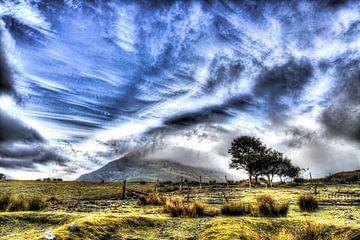 Zicht op Ben Glamaig, Isle of Skye van Floris van Woudenberg