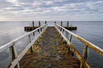 Afsluitdijk aan het IJsselmeer van Daan Kloeg