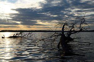 Golven in zonsondergang van Marcel Ethner
