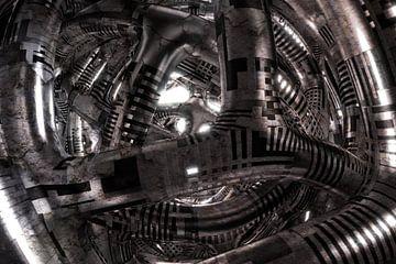 Alien Spaceship van Jörg Hausmann