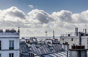 De skyline van Parijs van