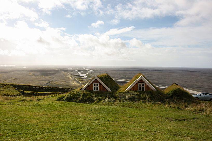 Typische IJslandse huizen van Louise Poortvliet