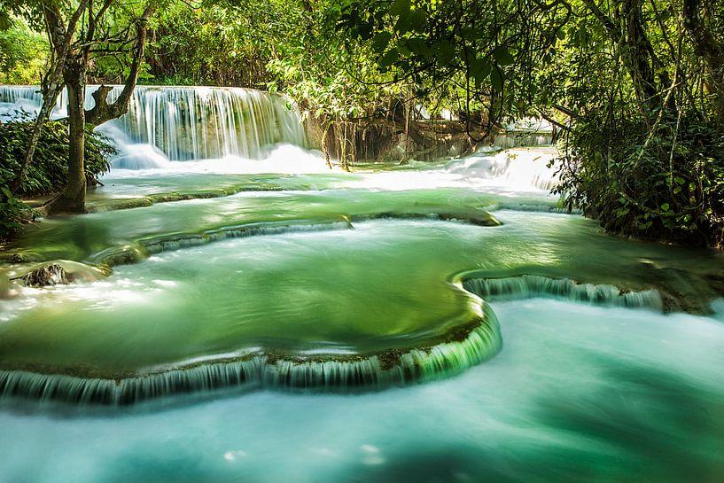 Kuang Si watervallen, Luang Prabang, Laos van Jaap van Lenthe
