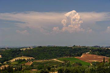 Dreiging in de lucht - Toscane - Italie van Jeroen(JAC) de Jong