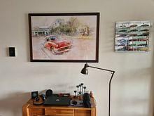Kundenfoto: Kuba rotes Auto von Arjen Roos, als gerahmtes poster