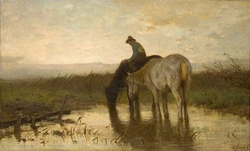 Trinkende Pferde,  Anton Mauve