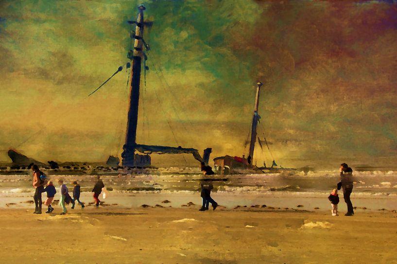 Avontuur op het strand van Frans Van der Kuil