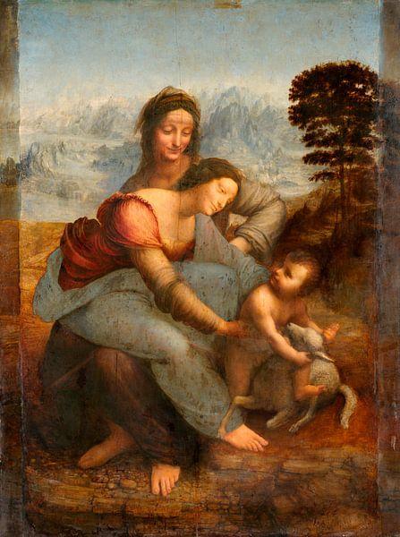 Jungfrau und Kind mit der heiligen Anna, Leonardo da Vinci von Meesterlijcke Meesters