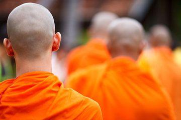Boeddhistische monniken van Henny Hagenaars