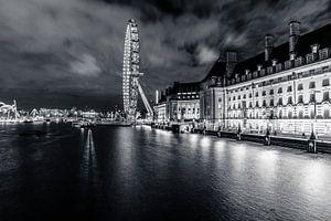 London Eye - Black & White van Jessica de Vries