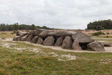 das d53 hunebed in Havelte, das zweitgrößte hunebed in den niederlanden