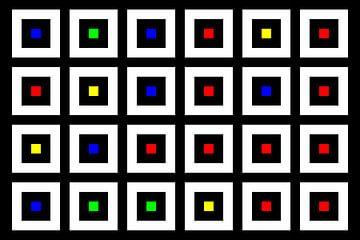Nested | Center | 06x04 | N=02 | Random #02 | RGBY van Gerhard Haberern
