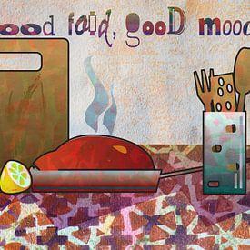 Küchenstillleben mit Abendbrot von Ariadna de Raadt-Goldberg