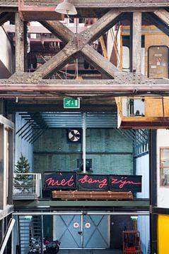 Niet bang zijn - NDSM, Amsterdam van Marjon Grendel