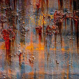 Roestig abstract van Leo Luijten