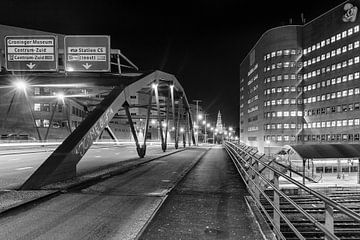 Emmaviaduct Groningen (zwart-wit) van Evert Jan Luchies