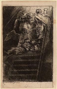 Rembrandt van Rijn  L'Echelle de Jacob sur