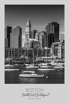 In beeld: BOSTON Skyline North End & Waterfront van Melanie Viola