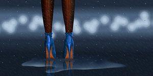 In de regen staan variant 2 in midnight blue