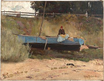 Tom Roberts, Boot am Strand, Queenscliff - 1887 von Atelier Liesjes