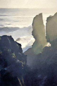 Landschap - Nieuw-Zeeland - Punakaiki - Schilderij