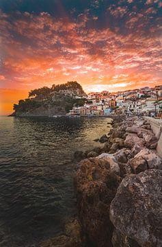 Parga sunset van