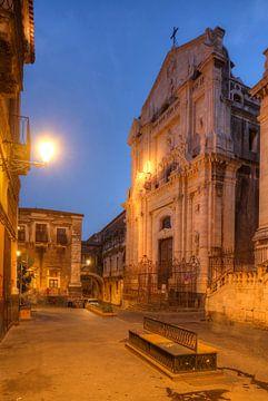 Kerk van Sint Benedictus in Via Crociferi, Catania, Sicilië, Italië, Europa van Torsten Krüger