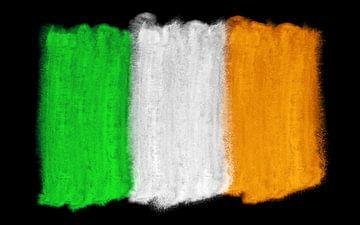 Symbolische nationale vlag van Ierland van Achim Prill