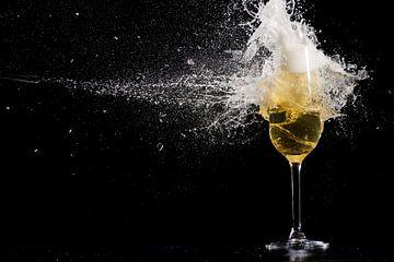 Gelukkig nieuw jaar gebroken glas van Caroline Pleysier