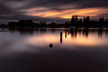 Amstelrivier gefotografeerd tegen een mooie zonsondergang