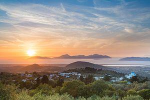 Zonsondergang in de Egeïsche Zee van Werner Reins