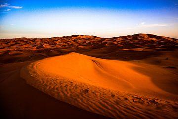 de Sahara van Natuur aan de muur