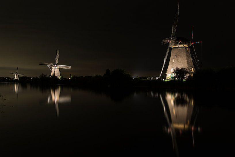 Kinderdijk by Light sur Arjan van Roon